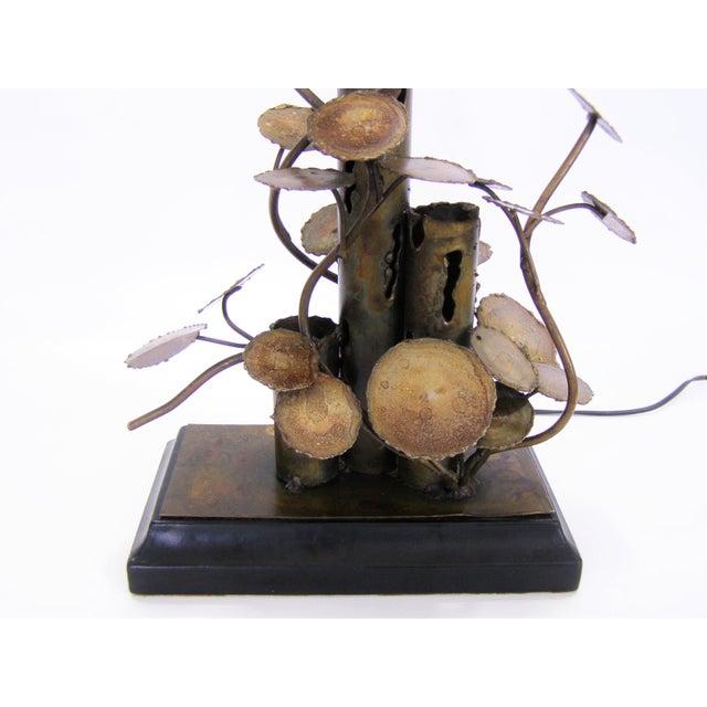 Silas Seandel Brutalist Metal Table Lamp-Curtis C. Jere Raindrops Sculpture Style Mid-Century Modern MCM Millennial - Image 7 of 11