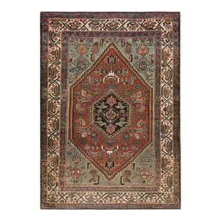 """Antique Persian Malayer Rug 3'4""""x4'10"""" For Sale"""