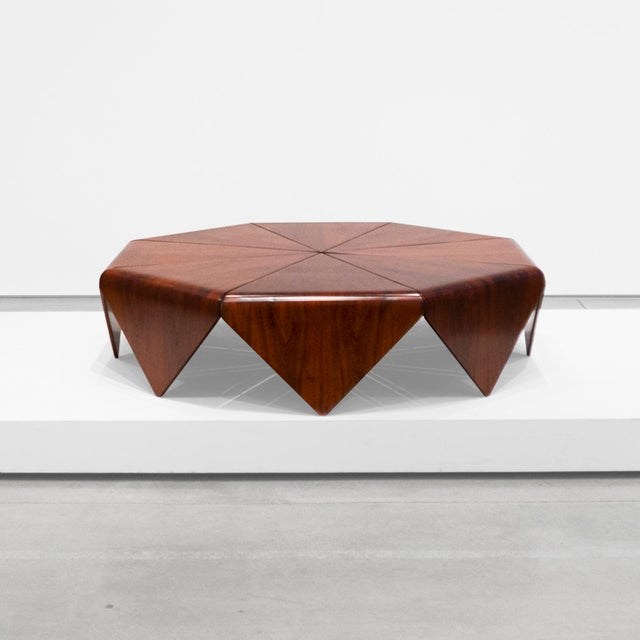 """Brown Jorge Zalszupin, """"Petalas"""" Rosewood Coffee Table, C. 1960 - 1969 For Sale - Image 8 of 8"""
