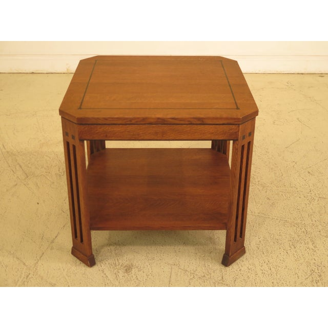 Stickley Arts & Crafts Oak Square Occasional Table - Image 8 of 8
