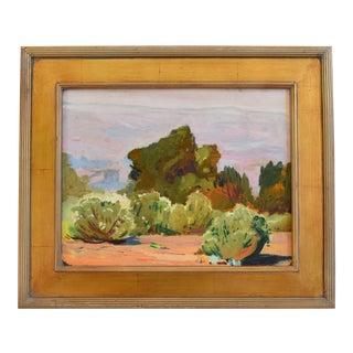 George Barker(1882-1965), Plein Air California Landscape Oil Painting