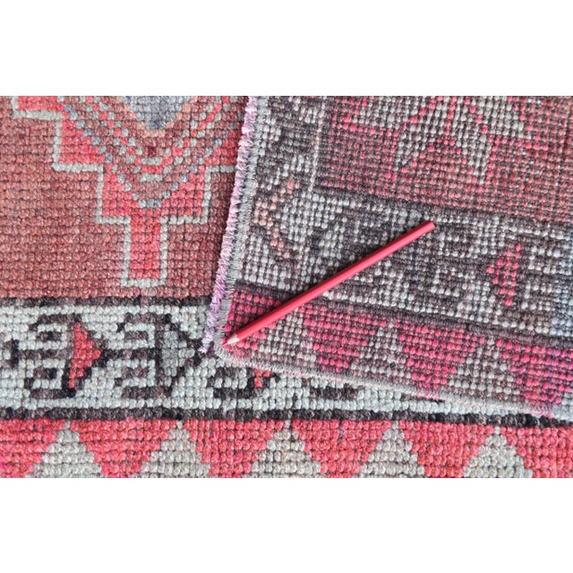 """1950's Vintage Turkish Hand-Knotted Hallway Runner Rug - 2'6"""" X 12'9"""" For Sale - Image 6 of 11"""