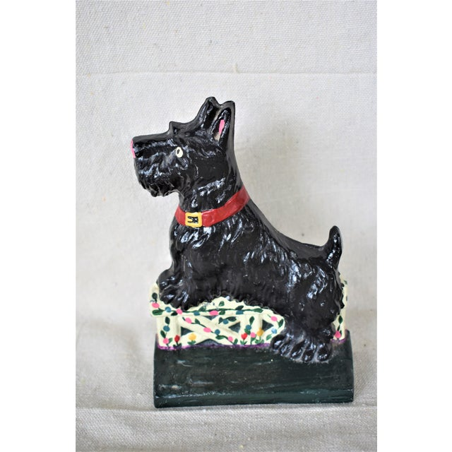 Black Cast Iron Scotty Doorstop For Sale - Image 8 of 8