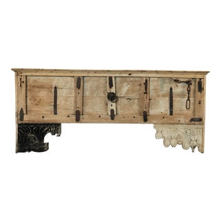 Vintage Rustic Console in Natural Finish For Sale