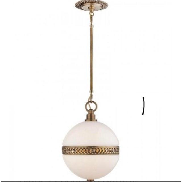 Visual Comfort Ralph Lauren Hendricks Small Globe Pendant For Sale - Image 11 of 12