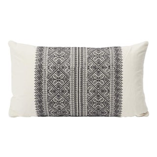 Schumacher Double-Sided Lumbar Pillow in Embroidered Toledo Print
