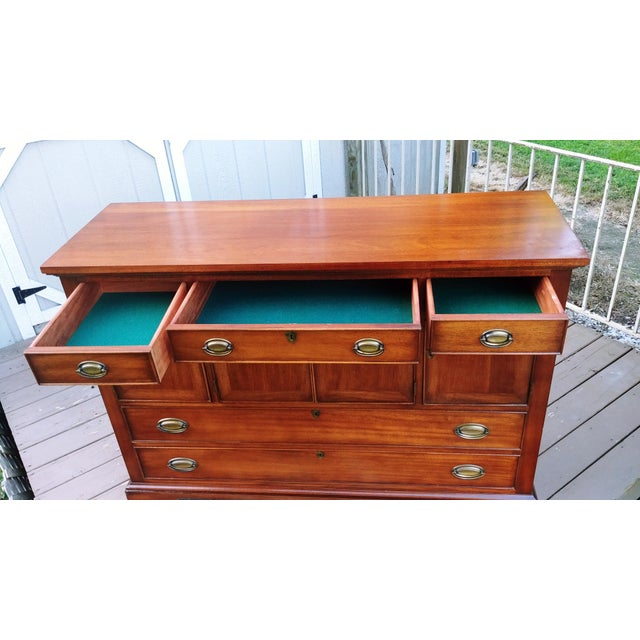 Metal 1966 Biedermeier Craftique Solid Mahogany Sideboard Buffet For Sale - Image 7 of 13