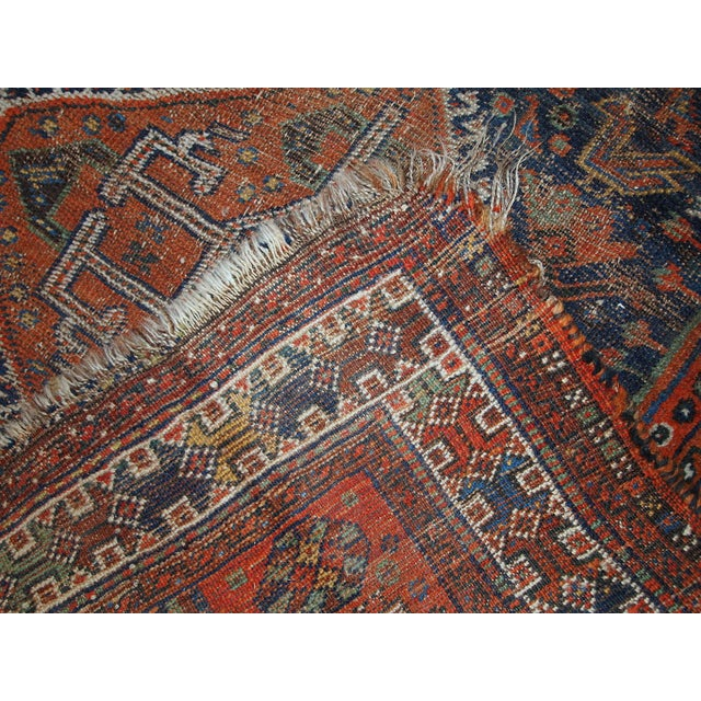 1910s Antique Persian Shiraz Rug - 3′9″ × 5′ - Image 7 of 11