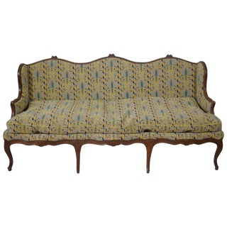 Louis XV Canape in Walnut For Sale