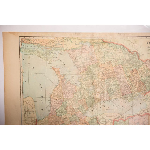 Cram's 1907 Map of Ontario For Sale In New York - Image 6 of 8