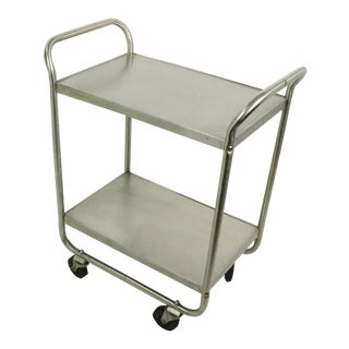 Industrial Stainless Steel Restaurant Serving Cart by Lakeside Manufacturing For Sale