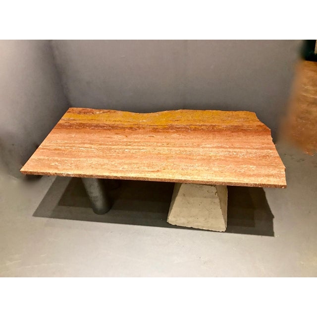 Memphis Group Memphis Inspired Marble Top Coffee Table by Kevin Thomas Ferrell For Sale - Image 4 of 8