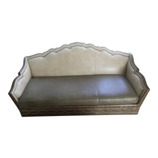 Taylor King Italian Leather Oversized Daybed