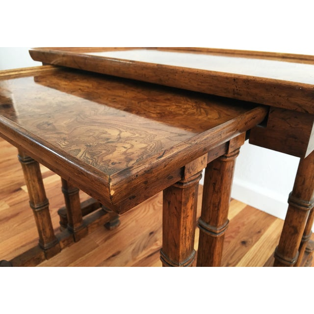 Vintage Drexel Heritage Nesting Tables - A Pair For Sale - Image 7 of 9