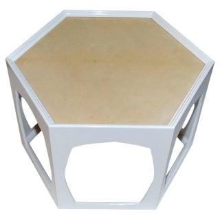 Parchment Side Table For Sale
