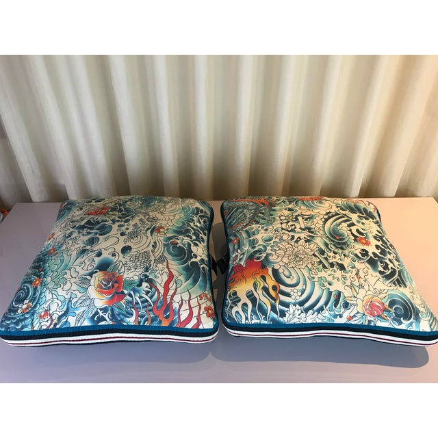 Jean Paul Gaultier Decorative Pillows - A Pair For Sale - Image 9 of 9