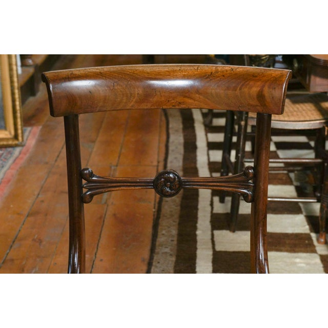 Early 19th Century Vintage English Regency Mahogany Side Chair- Set of 6 For Sale In New York - Image 6 of 8