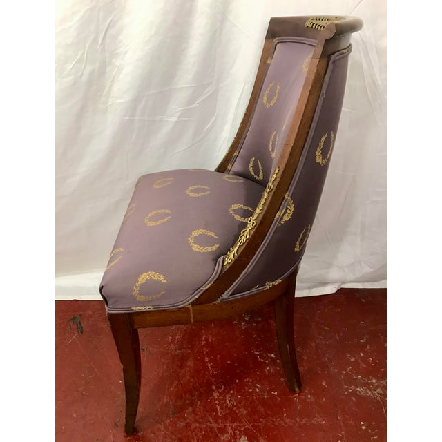 Purple French Empire Side Chairs, a Pair For Sale - Image 8 of 12