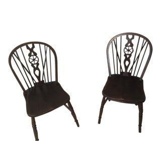 200 Year Old Windsor Chairs - a Pair For Sale