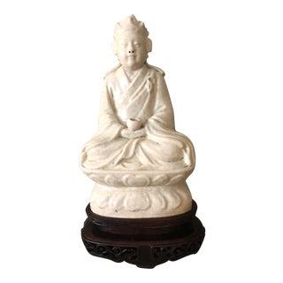Antique Blanc De Chine Dehua Porcelain Buddha For Sale
