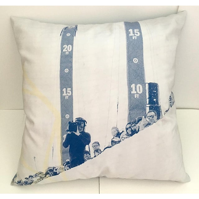 Artist made. One-of-a-kind hand-made 27 inch square pillow. Front and back of pillow cut from soft heavy weight polyester...