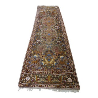 1970s Vintage Turkish Pictorial Runner Rug - 2′9″ × 11′ For Sale