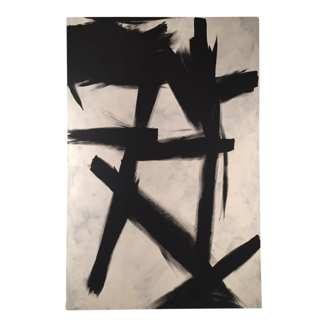 Black & White Abstract Painting - Image 1 of 3