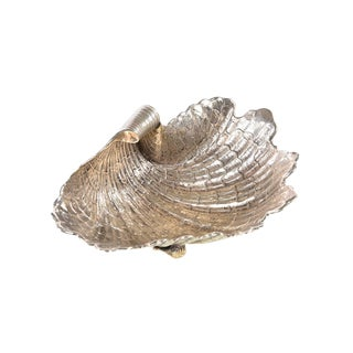 Douglas Rosin Sterling Silver Beautiful Shell Center Piece Bowl -Hand Hammered For Sale