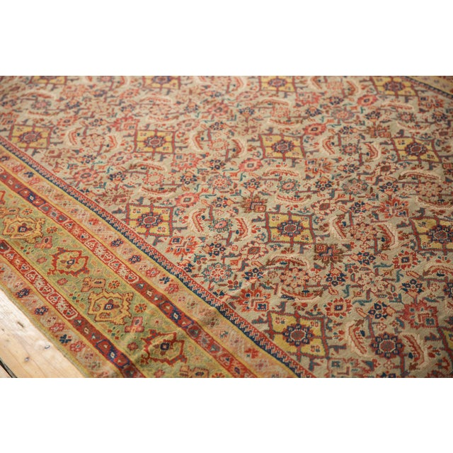 "Antique Distressed Malayer Rug Runner - 6'5"" X 12'8"" For Sale - Image 12 of 13"