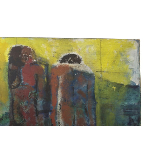 Stunning original oil on canvas painting in an expressionistic style by Pennsylvania artist Alberto Weller. Signed bottom...
