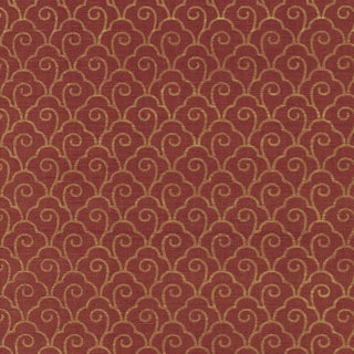 Sample - Schumacher Scallop Filigree Sisal Wallpaper in Gold on Lacquer For Sale