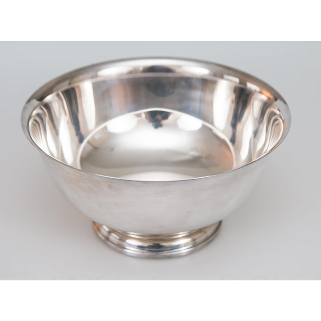 Mid-Century Modern Vintage Silverplate Revere Bowl For Sale - Image 3 of 6