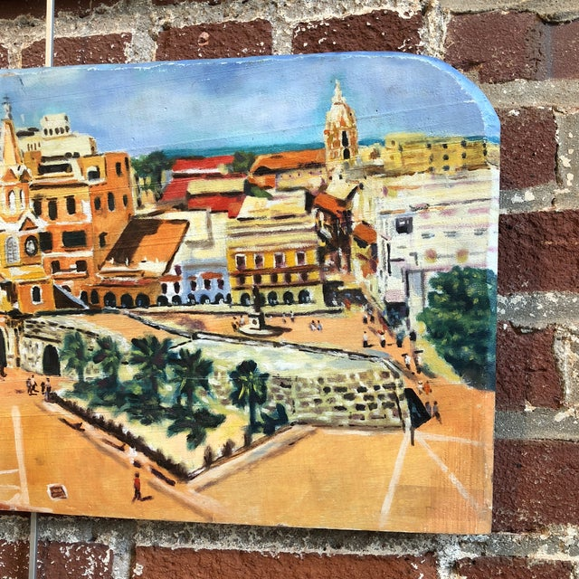 2010s Coastal Cityscape Painting of Cartagena For Sale - Image 5 of 9