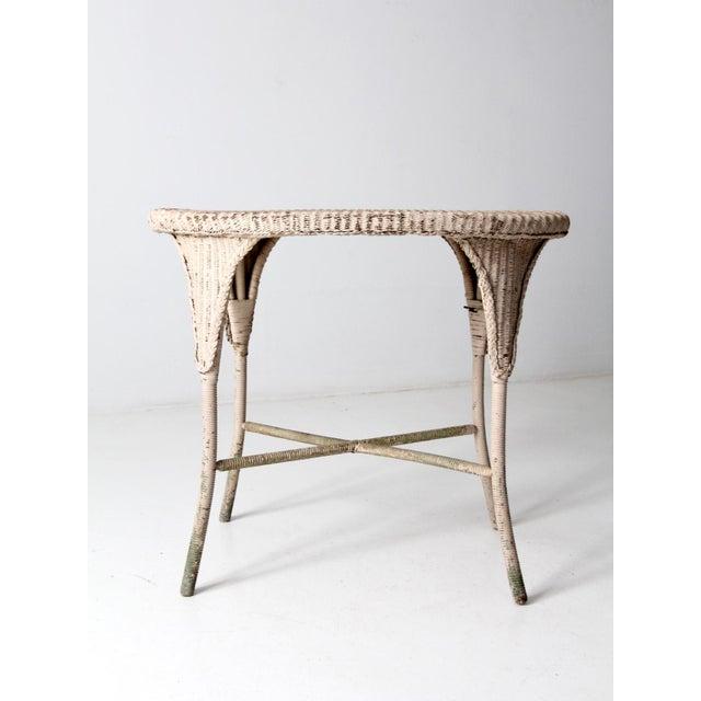 Wicker Antique Wicker Side Table For Sale - Image 7 of 13