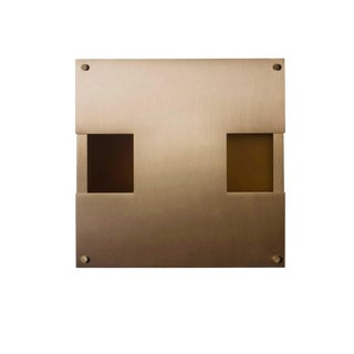 Modern Contemporary 002 Sconce in Brass by Orphan Work For Sale
