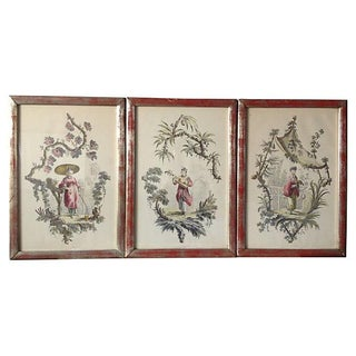 Borghese Chinoiserie Art Prints, Triptych - Set of 3 For Sale