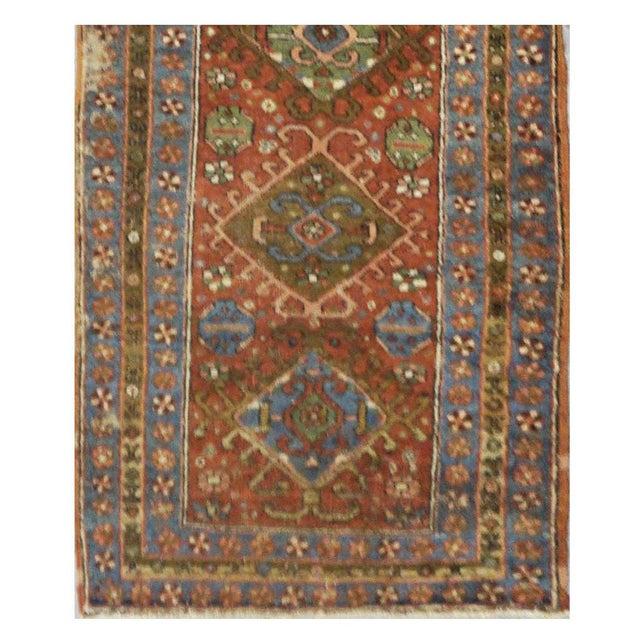 Antique Persian Heriz Rug - 3.1 x 10.3 - Image 2 of 3