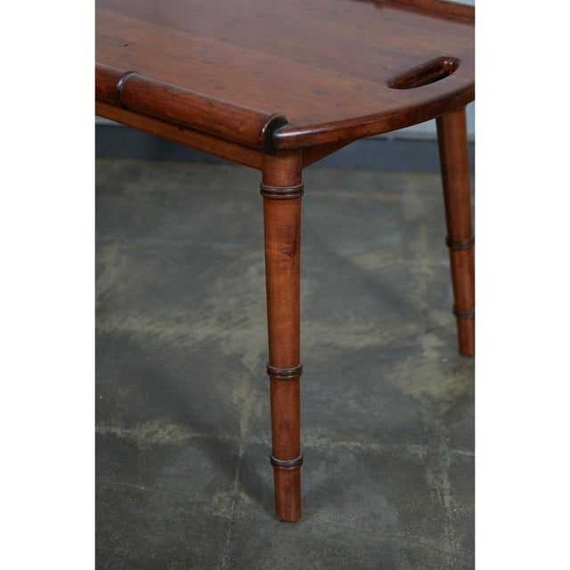 Mid-Century Faux Bamboo Coffee Table For Sale - Image 4 of 6