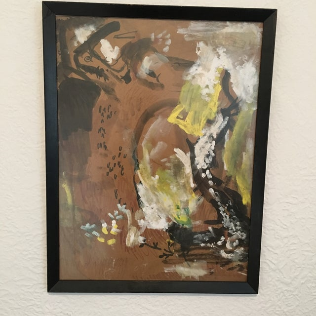 1960s Vintage Abstract Painting - Image 3 of 4