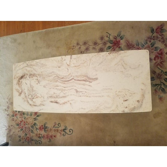 Mid-Century Marble Top Cocktail Table - Image 7 of 8