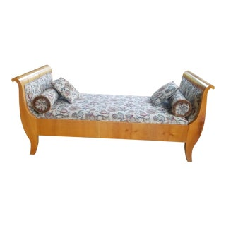 Biedermeier Cherry Chaise Lounge Daybed For Sale