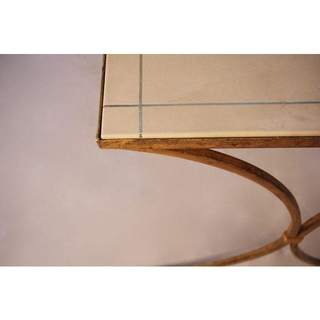 Animal Skin French Gilt Leather Top Desk For Sale - Image 7 of 8
