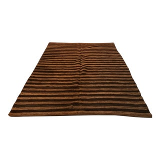 Recycled Leather Oversized Rug - 6′6″ × 10′3″ For Sale