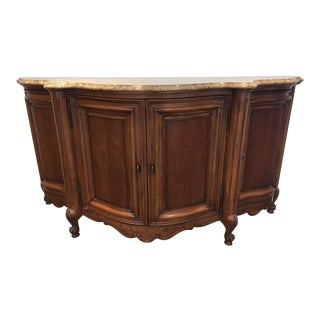"French Provincial ""Bonille Coeur De France"" Serpentine Credenza For Sale"