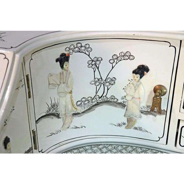 White Chinoiserie Carlton House Desk For Sale In Philadelphia - Image 6 of 13