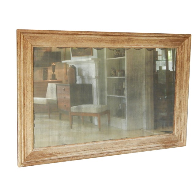 Amazing, very large distressed wood mirror - with antique glass.