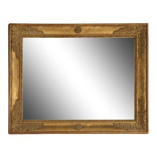 Petite 18th Century Antique Mirror in Gilt Frame For Sale