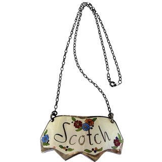 Enameled Decanter Hanging Tag For Sale
