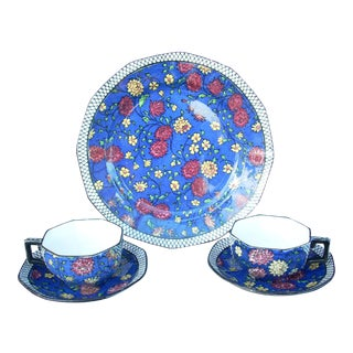 Royal Doulton Serving Plate & 2 Cups & Saucers
