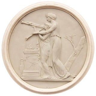 Classical Greek Architectural Roundel Sculpture For Sale